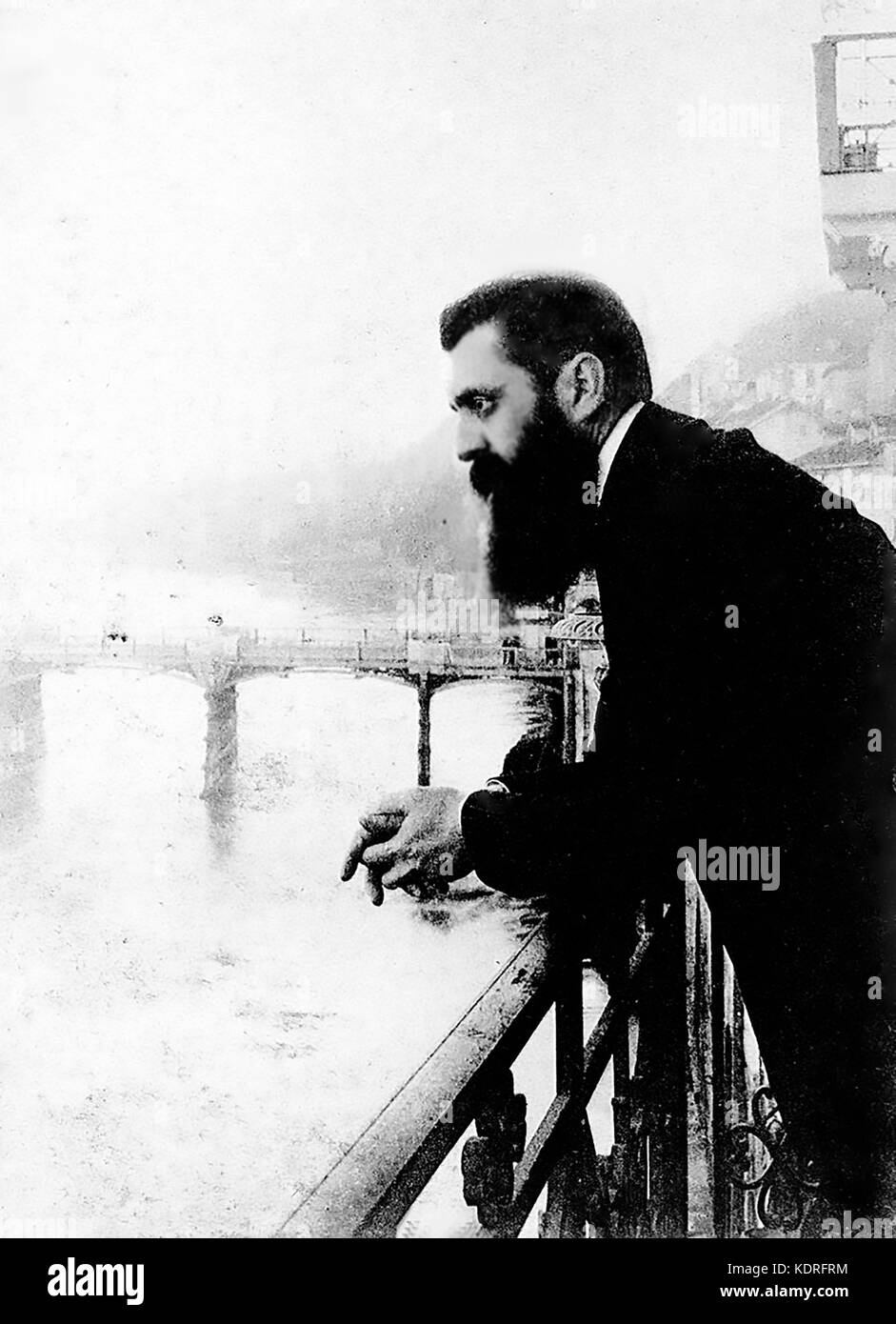 THEODOR HERZL (1860-1904) Austro-Hungarian writer who formed the World Zionist Organization to promote a Jewish - Stock Image