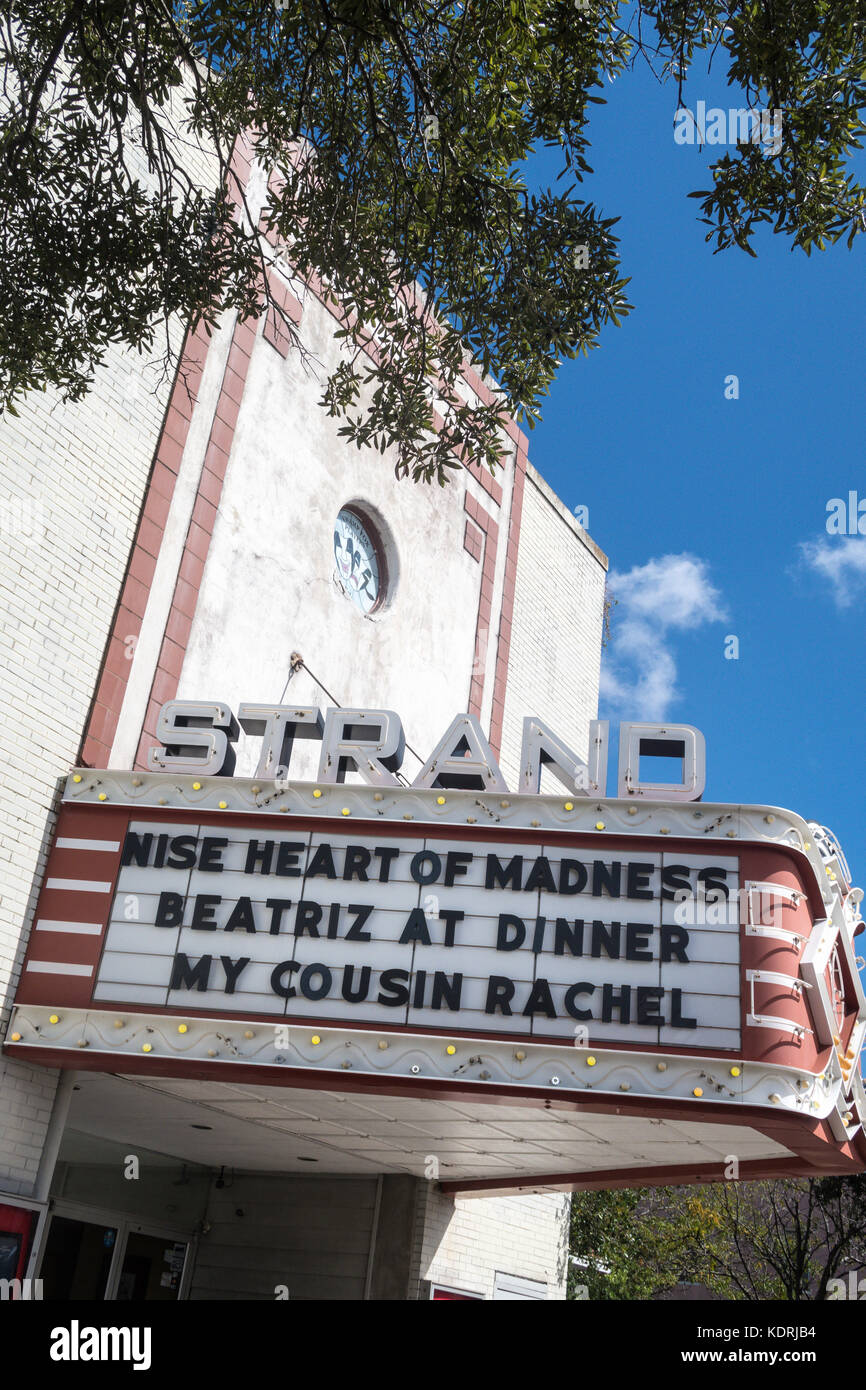 Strand Theater in Georgetown, South Carolina, USA - Stock Image