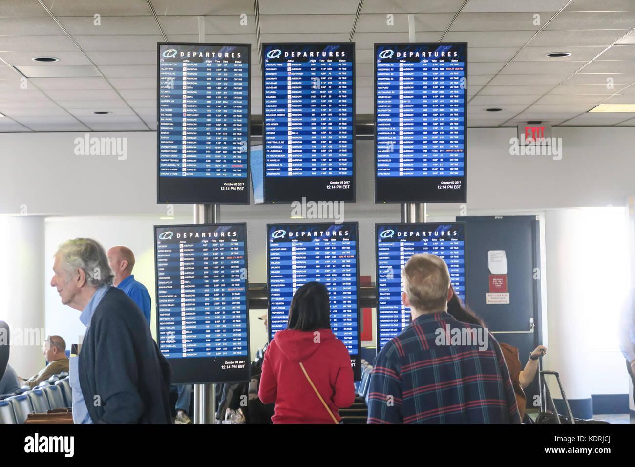 Charlotte International Airport, North Carolina, USA - Stock Image