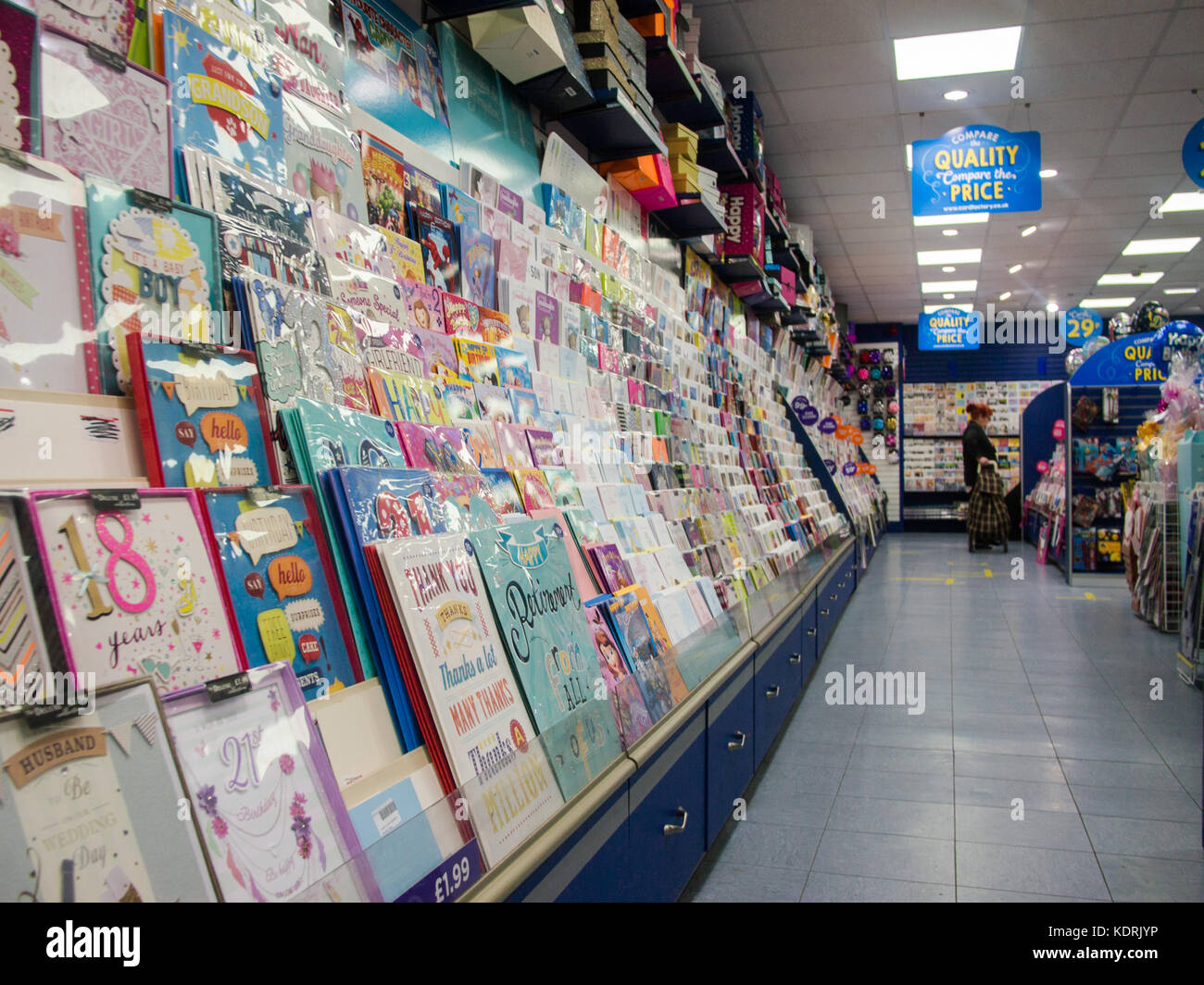 Greetings Cards And Shelving In A Greeting Card Store