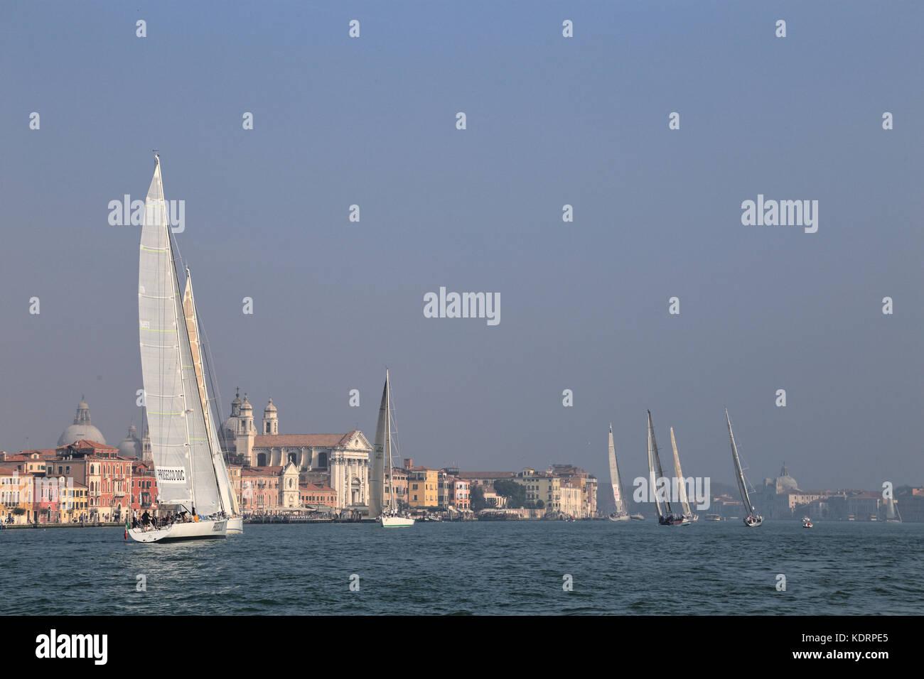 Sailing yacht racing 'Venice Hospitality Challenge' and 'Regata La Veleziana' 2017 - Stock Image