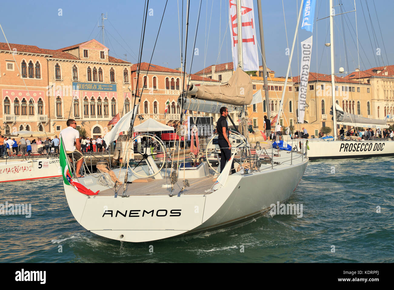 Sailing maxi yacht Anemos at the Venice Hospitality Challenge 2017 - Stock Image