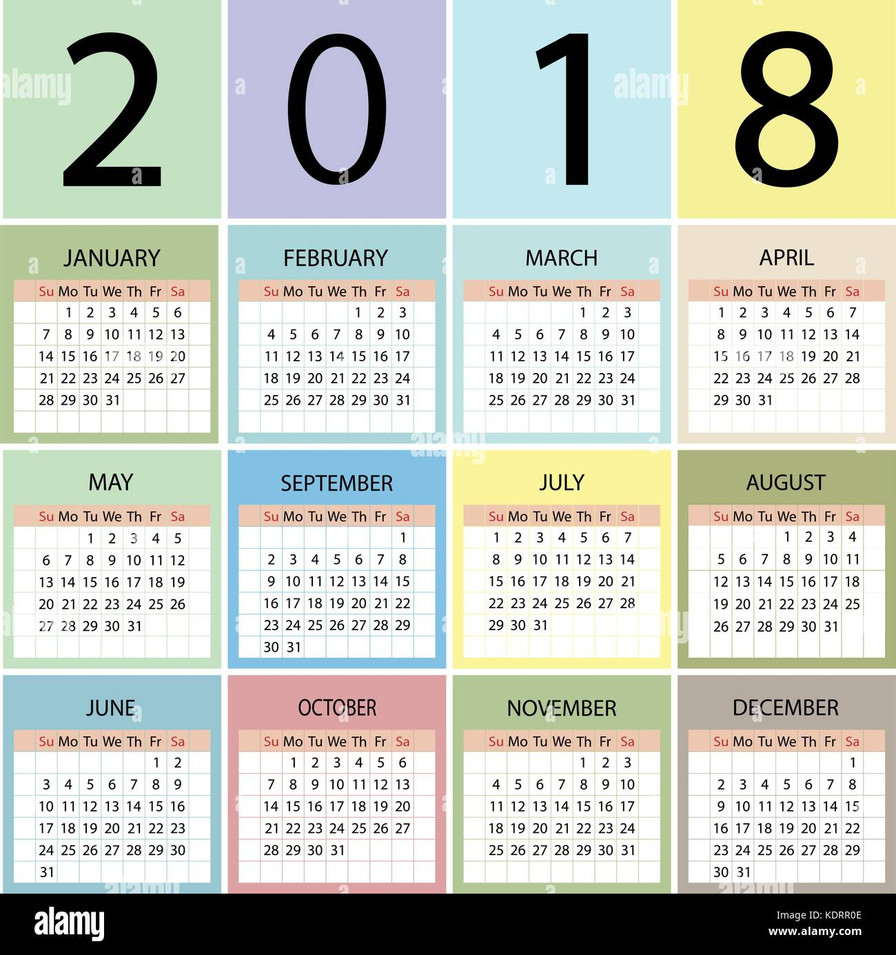 Calendario Con Week 2018.2018 Calendar Diary Stock Photos 2018 Calendar Diary Stock