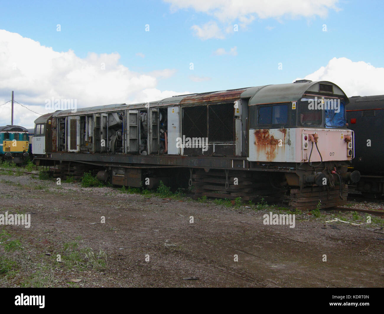 Withdrawn Class 58 locomotive at Eastleigh Depot in 2009 - Stock Image