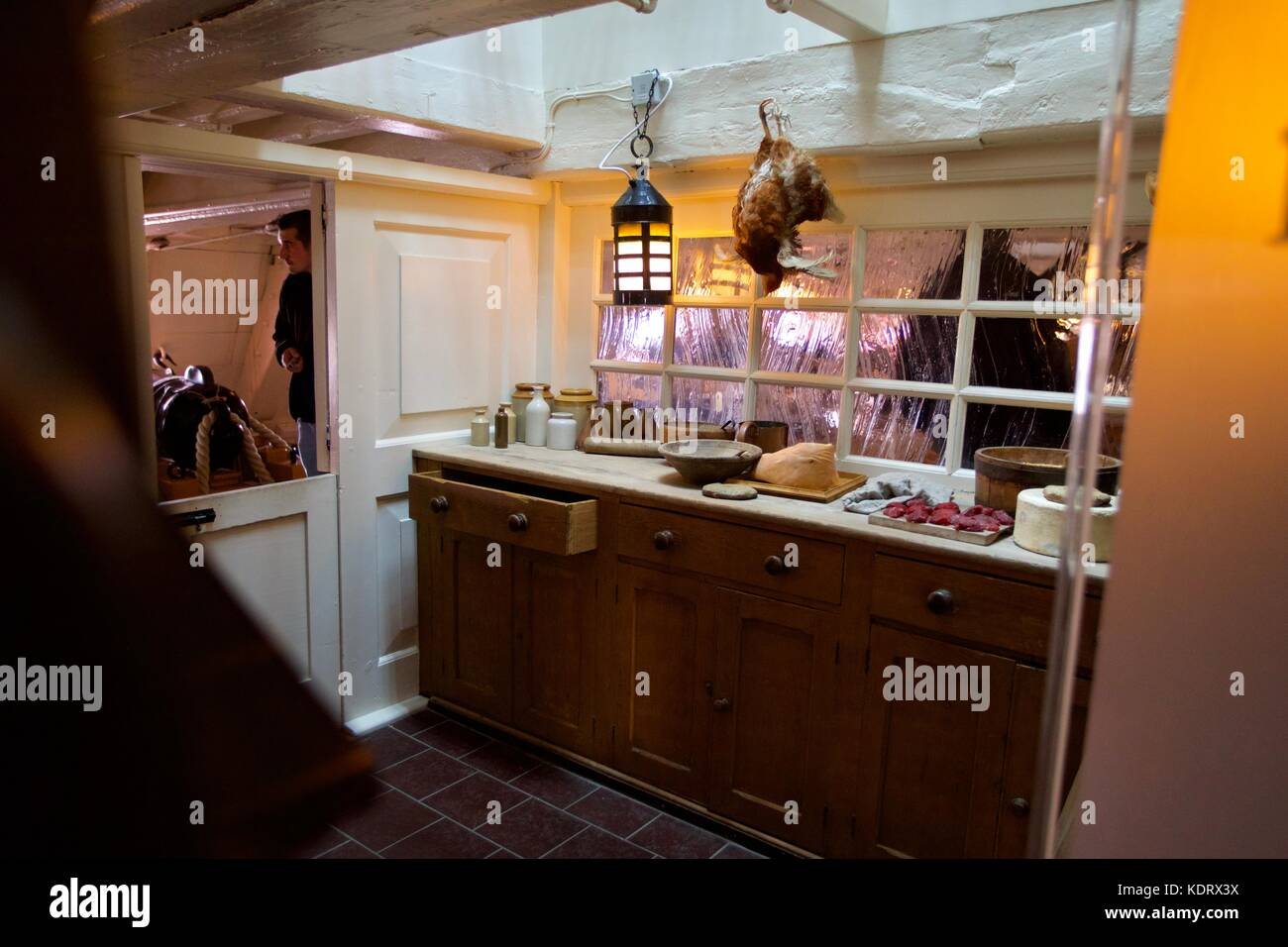 The Galley on HMS Victory, Portsmouth Historic Dockyard - Stock Image