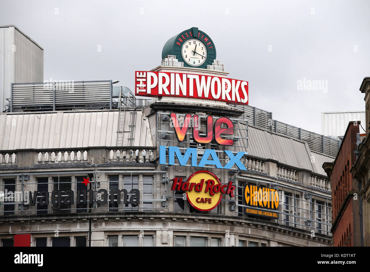 The Printworks Entertainment Complex in Manchester City Centre - Stock Image