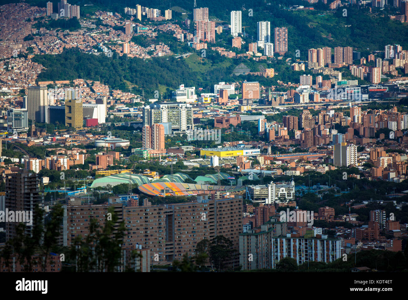 Medellin, Colombia's second largest city with 3 million people in the metropolitan area, has become synonymous - Stock Image