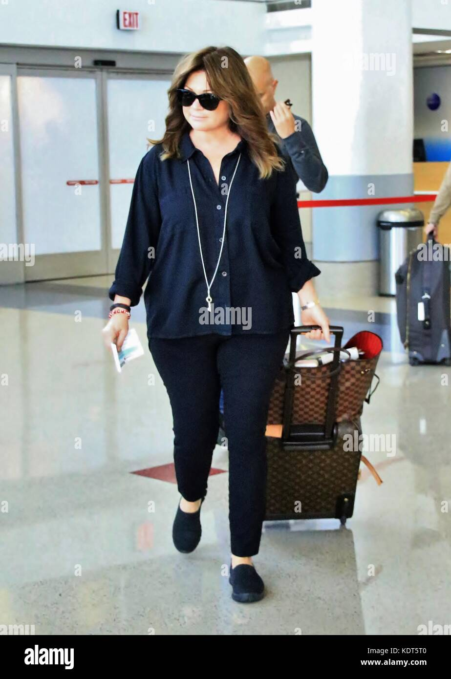 Valerie Bertinelli Departs From The Airport With Her Husband Tom Stock Photo Alamy