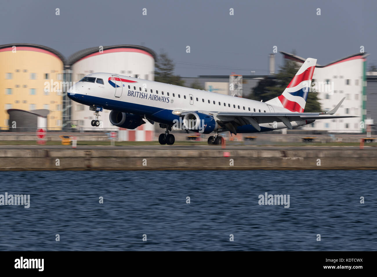 British Airways aircraft at london City Airport.Stock Photo