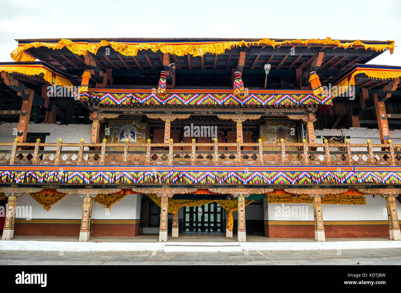 Punakha Dzong, Bhutan - Punakha Dzong or Pungthang Dewachen Phodrang (Palace of Great Happiness) in Punakha, the - Stock Image