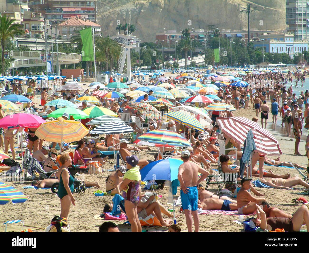 Postiguet beach alicante alicante province spain stock - Stock uno alicante ...