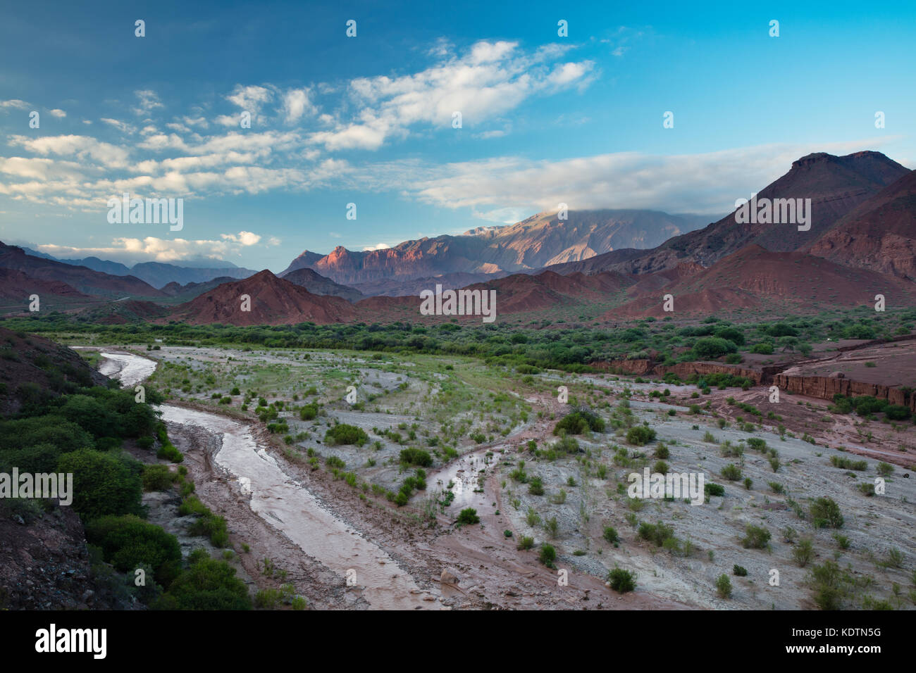 The Quebrada de la Conches, Valles Calchaquies, Salta Province, Argentina - Stock Image