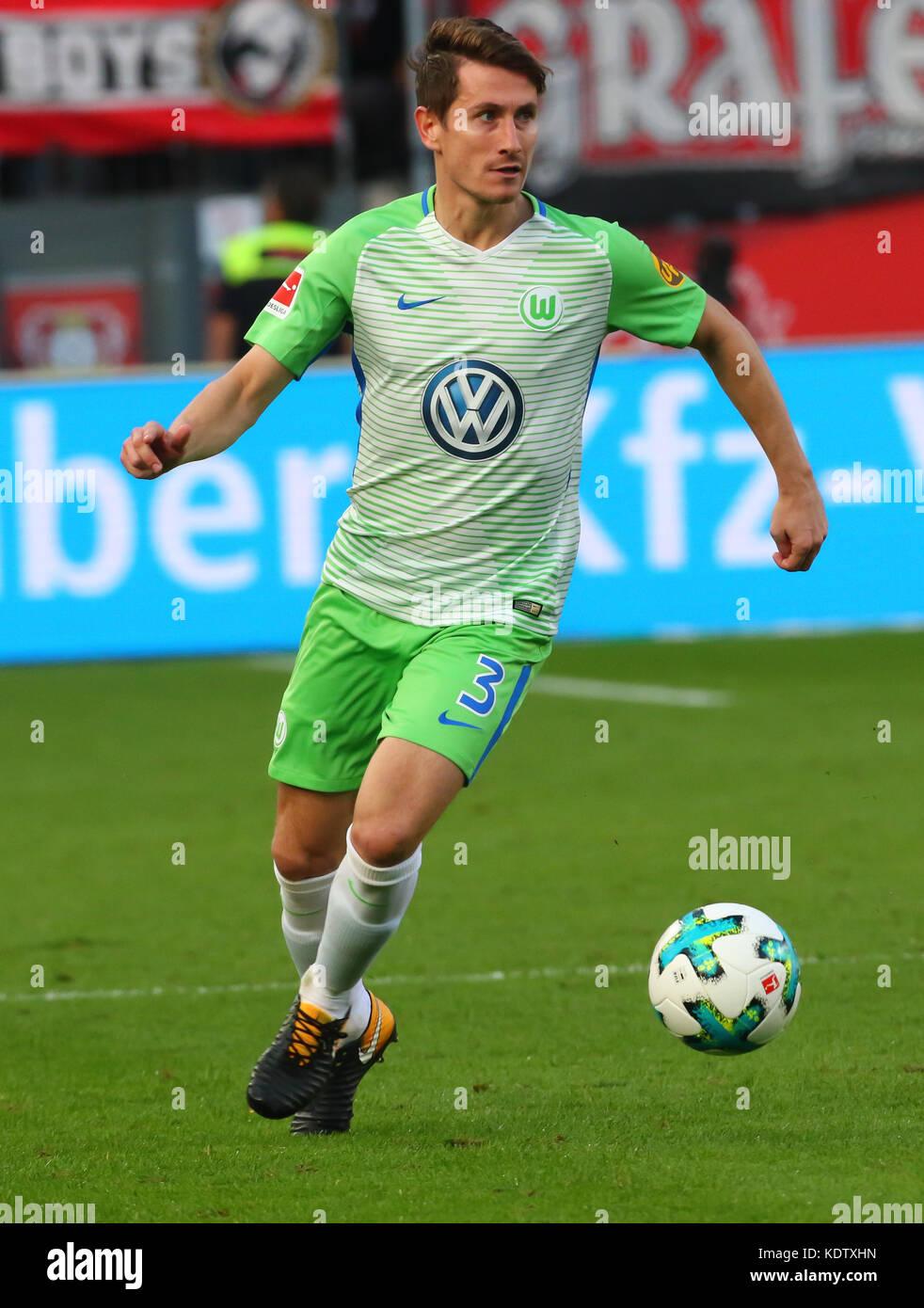 Leverkusen, Germany October 15 2017, Bundesliga matchday 9, Bayer 04 Leverkusen vs VFL Wolfsburg: Paul Verhaegh - Stock Image