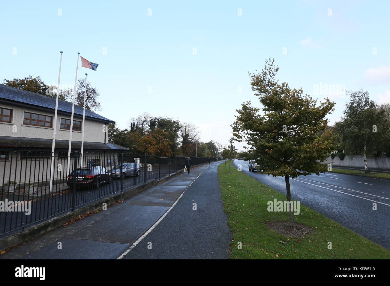 Dublin, Ireland. 16th Oct, 2017. Quiet streets in South Dublin during the build up to Ophelia. Image from Dublin, - Stock Image