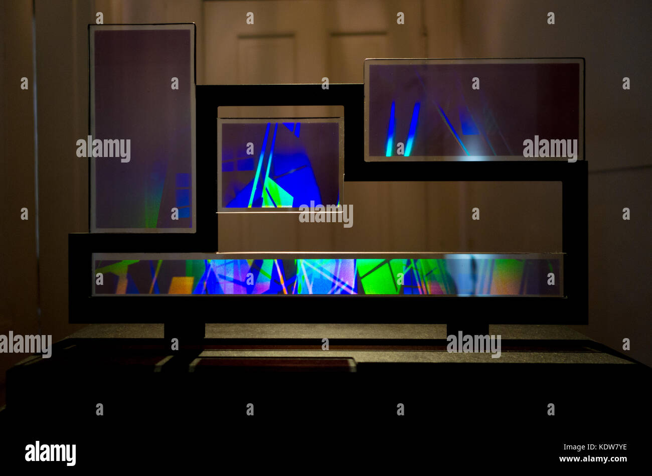 Holograms - holographic art - at the Holocenter - Center for the Holographic Arts, a seasonal art center located - Stock Image