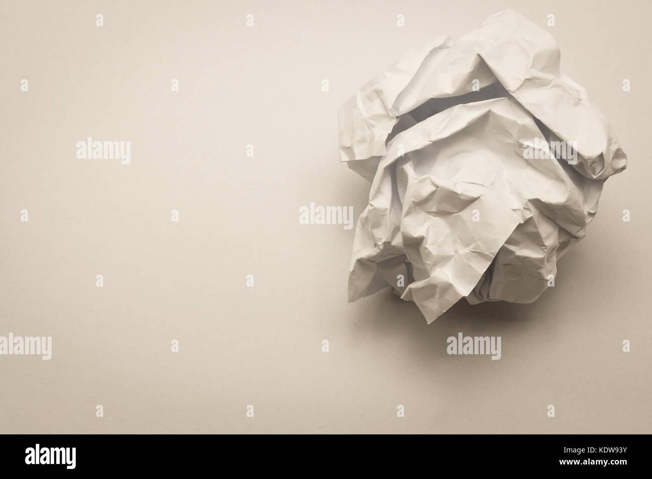 close up of crumpled paper ball stock photos & close up of crumpled