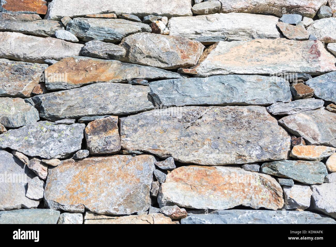 Details of stones, San Romerio Alp, Brusio, Canton of Graubünden, Poschiavo valley, Switzerland - Stock Image