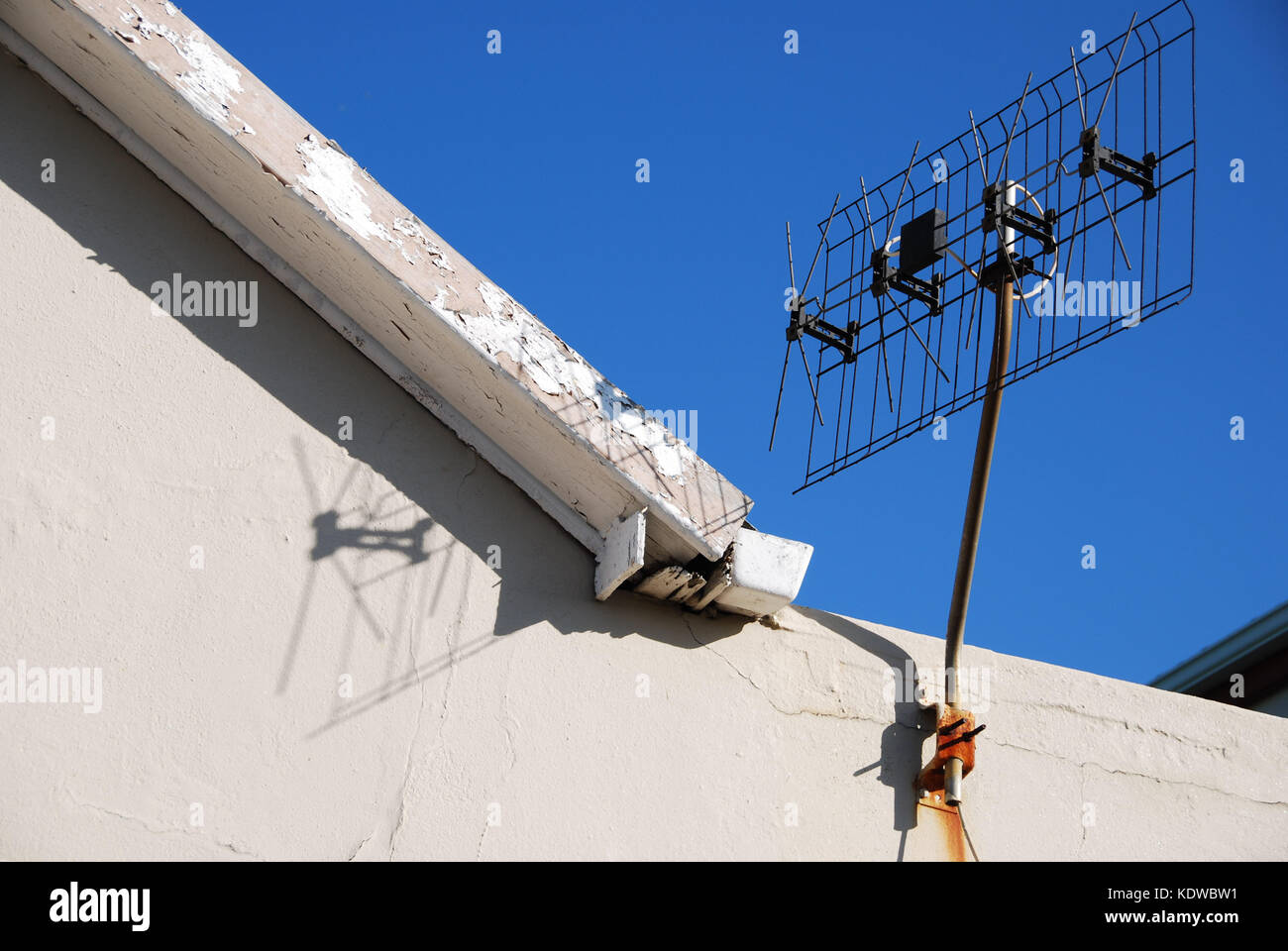 Old-fashioned television aerial - Stock Image