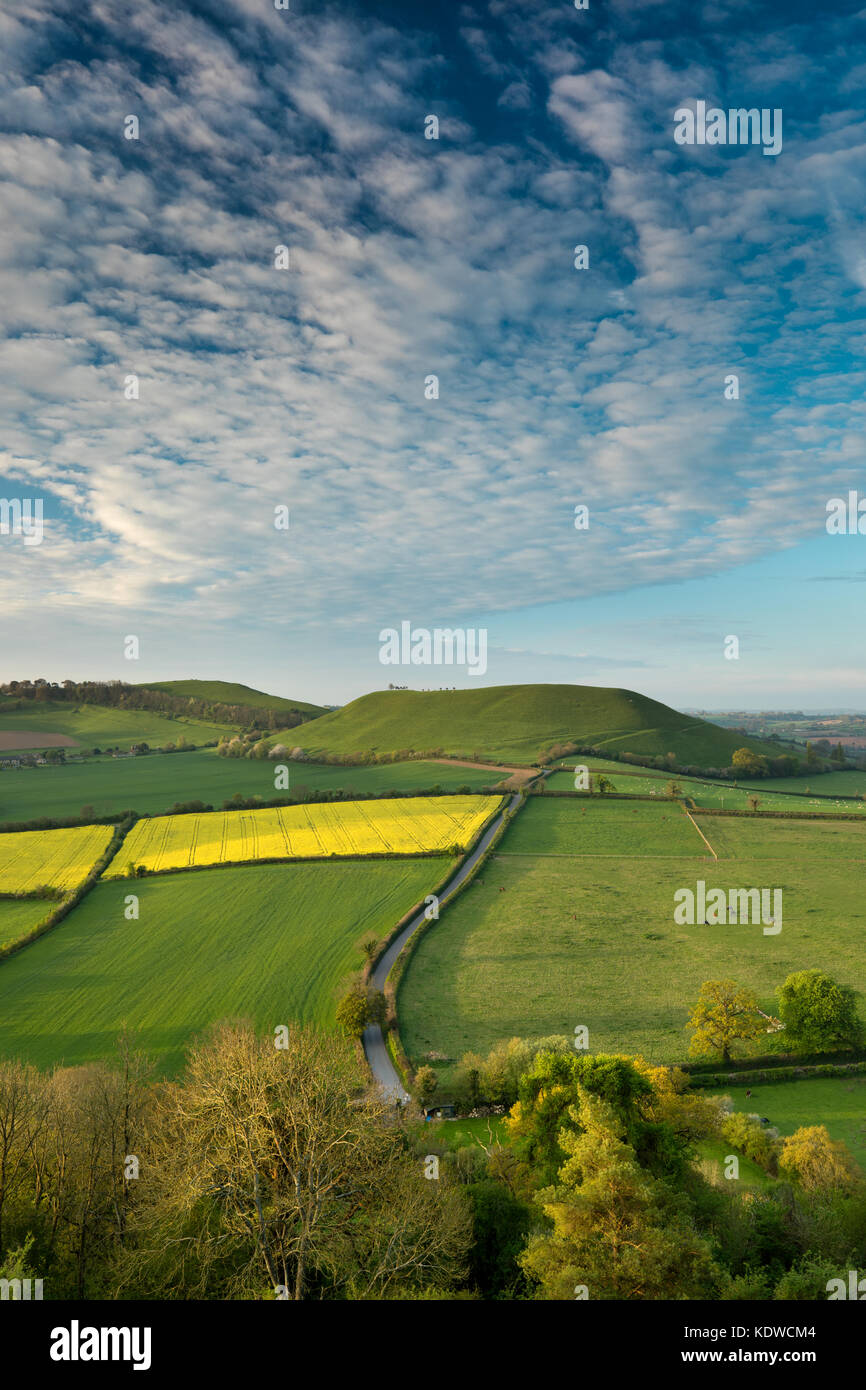 The road to Corton Denham via Kember's Hill, South Somerset, England,UK Stock Photo