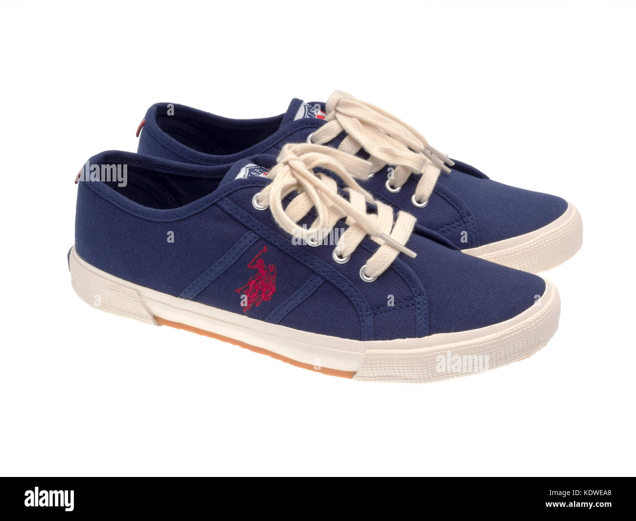Los Angeles, CA, USA - August 13, 2016: U.S. Polo ASSN. Men Shoes Isolated On White - Stock Image