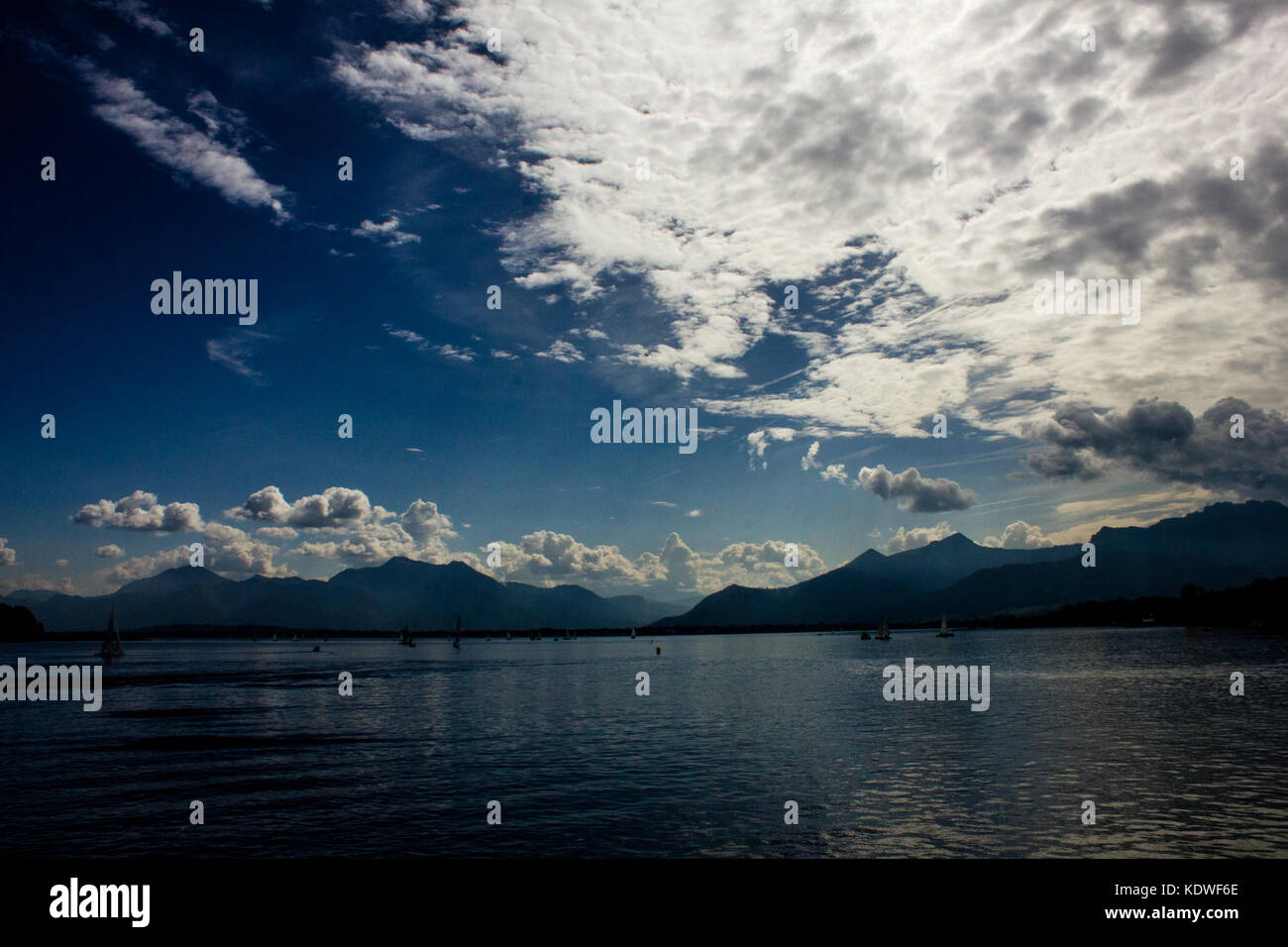 Chiemsee Lake, in Bavaria, Germany - Stock Image
