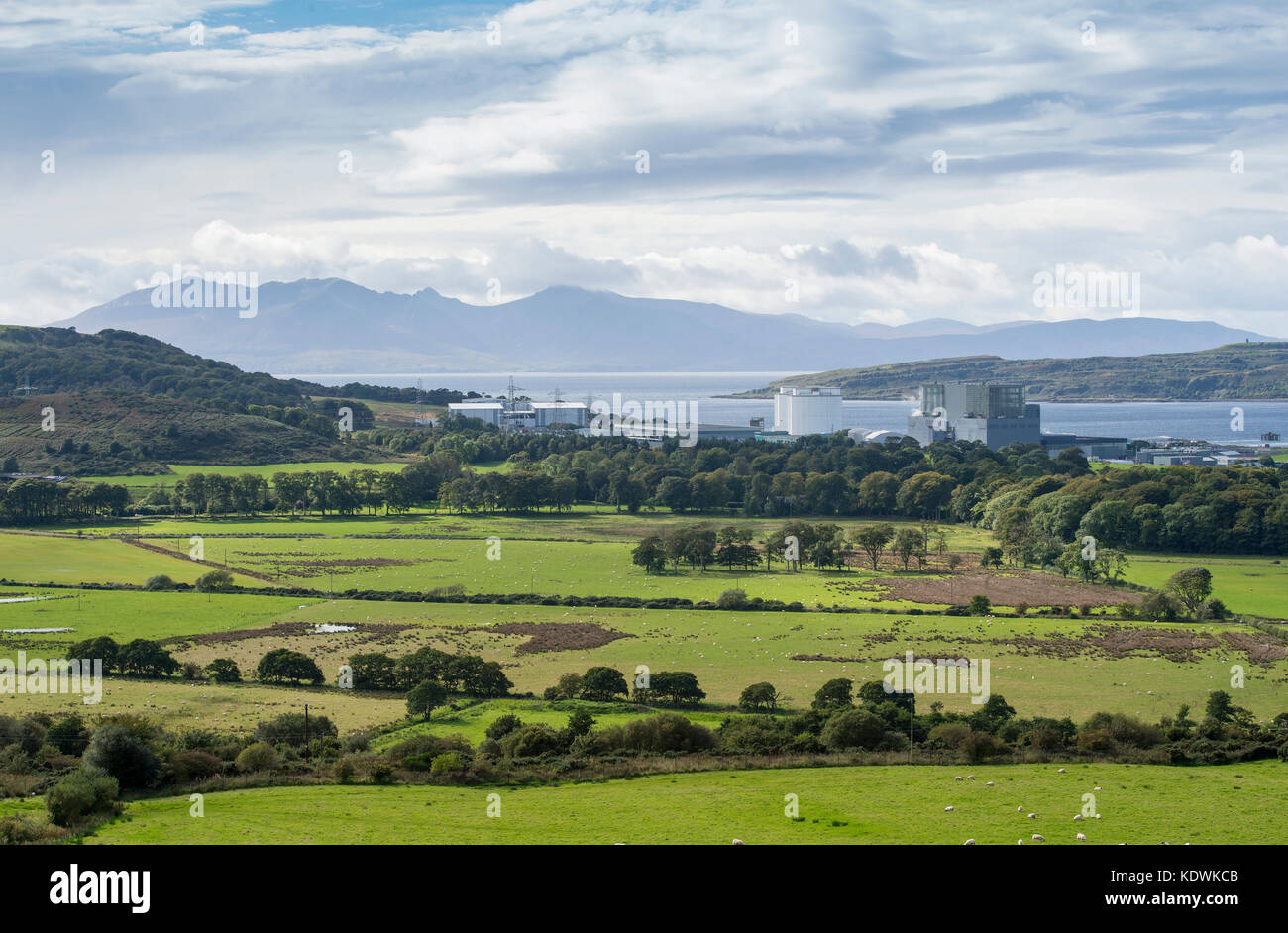 Hunterston B, an advanced gas-cooled  Nuclear Power Station run by EDF Energy in North Ayrshire. Started operating: - Stock Image