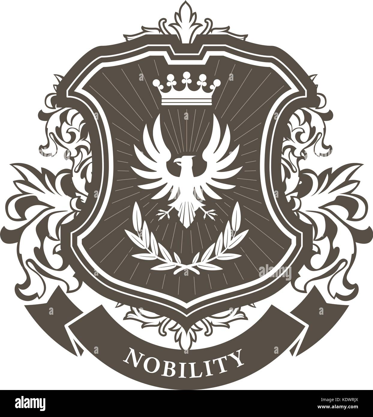 Nobility Coat Of Arms Stock Vector Images Alamy