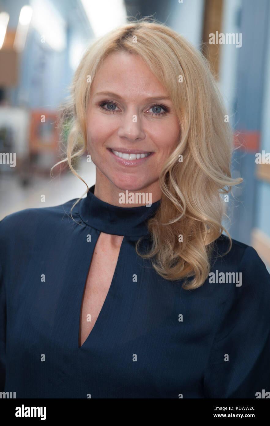 SOFIA RÅGENKLINT Program presenter inSwedish Television  SVT 2017 - Stock Image