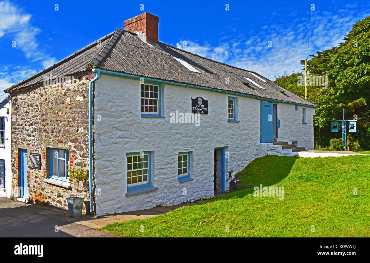 Tregwynt Woollen Mill, Wales, UK Stock Photo