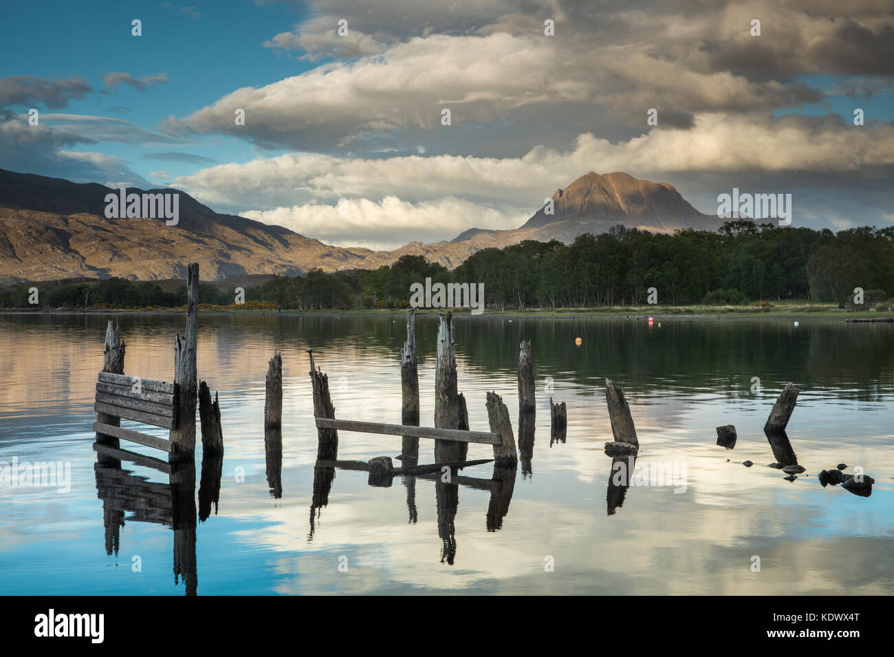 Loch Maree & Slioch, Wester Ross, Scotland, UK - Stock Image