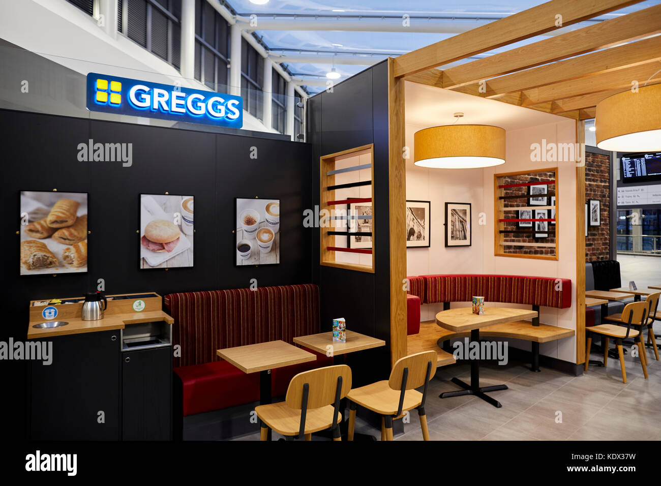 Bolton Interchance opens with a new Greggs shop inside JRW Group rebrand to Ripe. - Stock Image