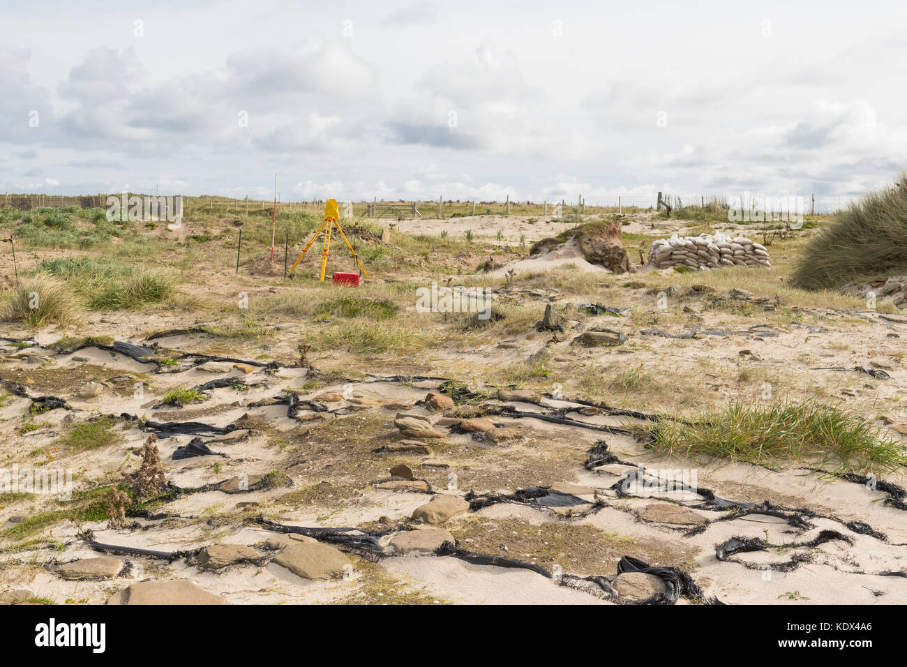 Links of Noltland excavation and archaeological site, Westray, Orkney, Scotland, UK - Stock Image