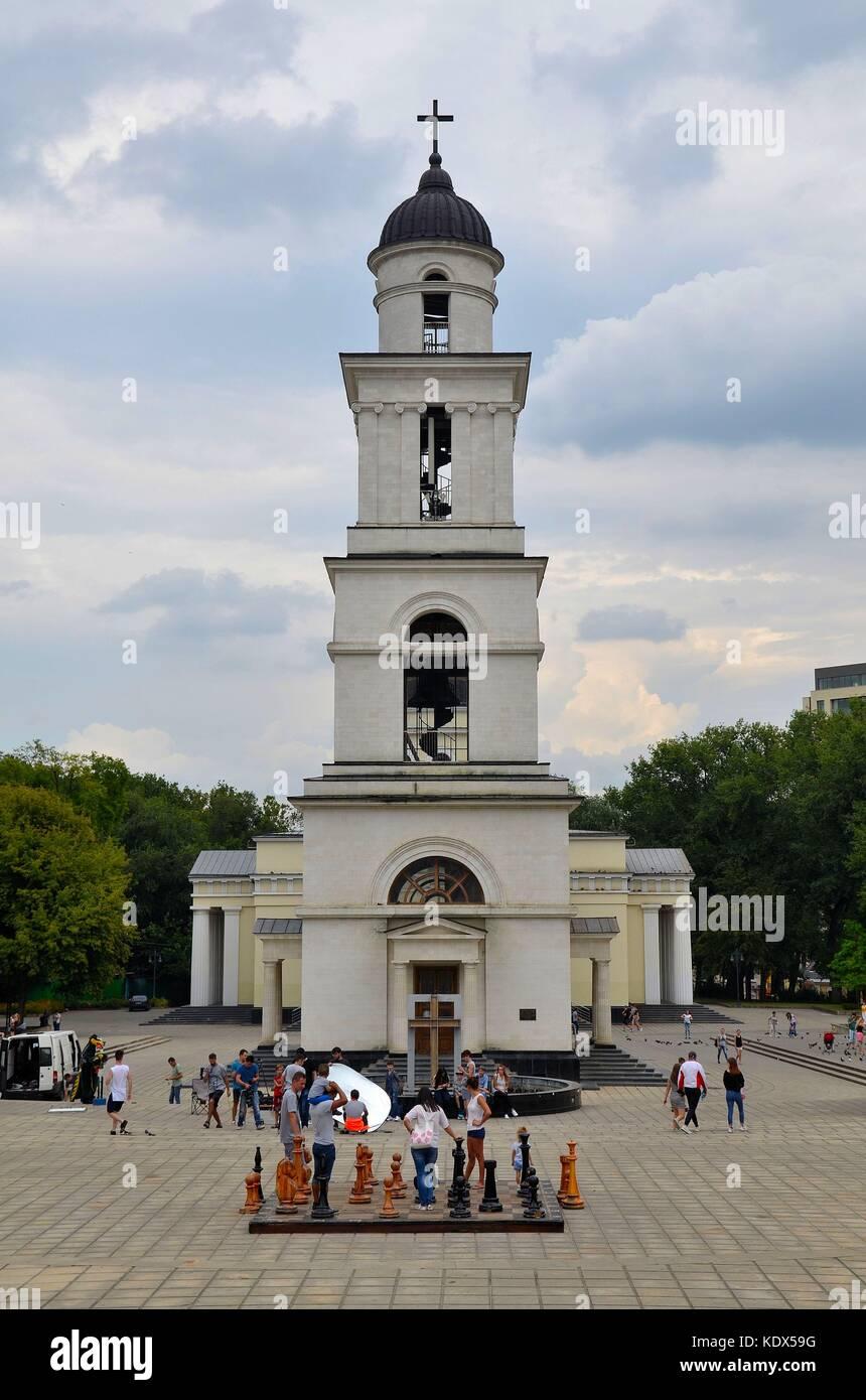 Die Kathedrale von Chişinău, Hauptstadt der Republik Moldau Stock Photo
