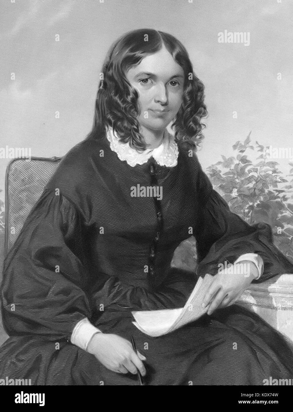 Elizabeth Barrett Browning, English poet of the Victorian era - Stock Image