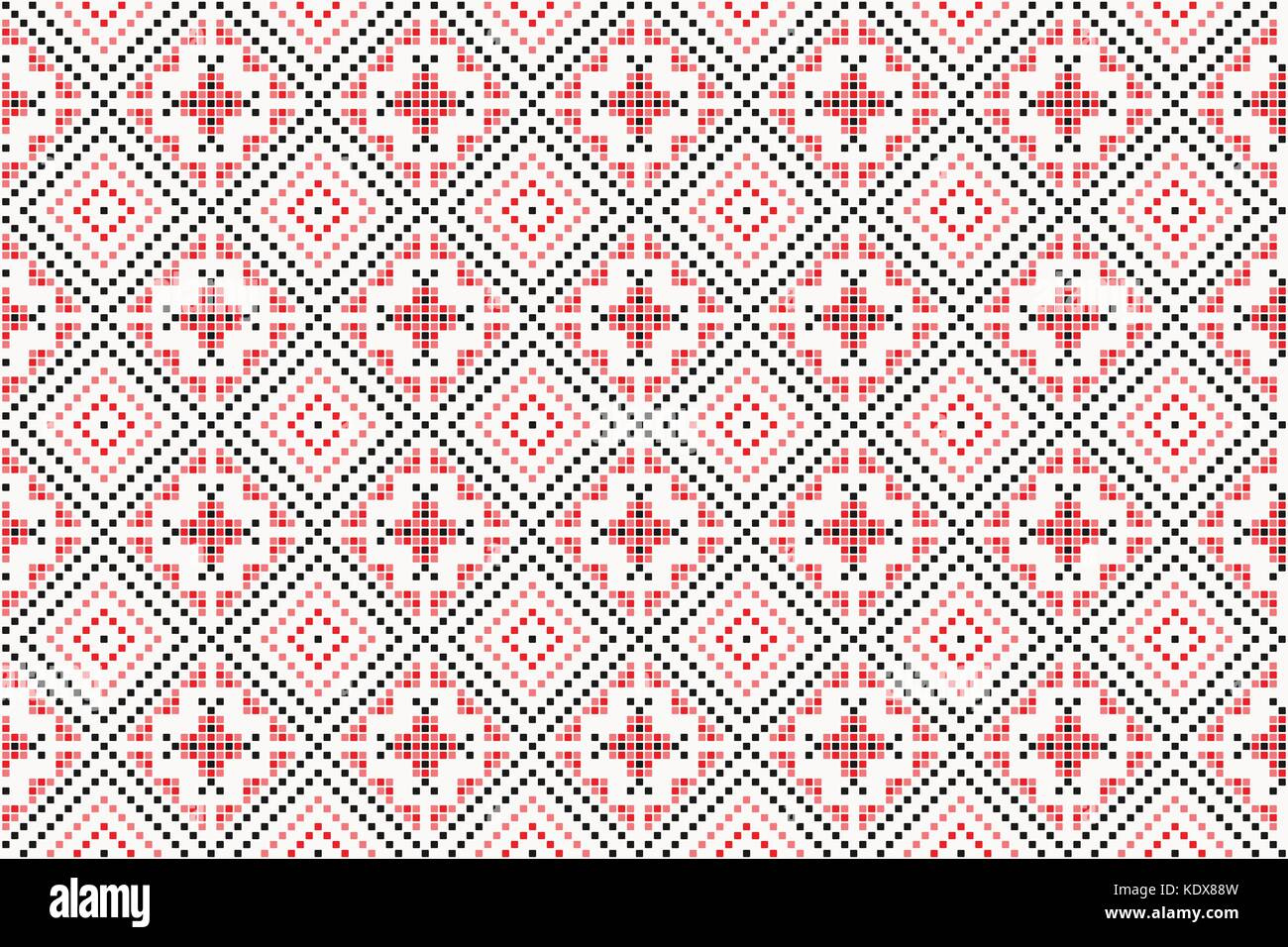 traditional seamless pattern with classic, geometric ornament. vector decorative background. handcrafted floral - Stock Vector