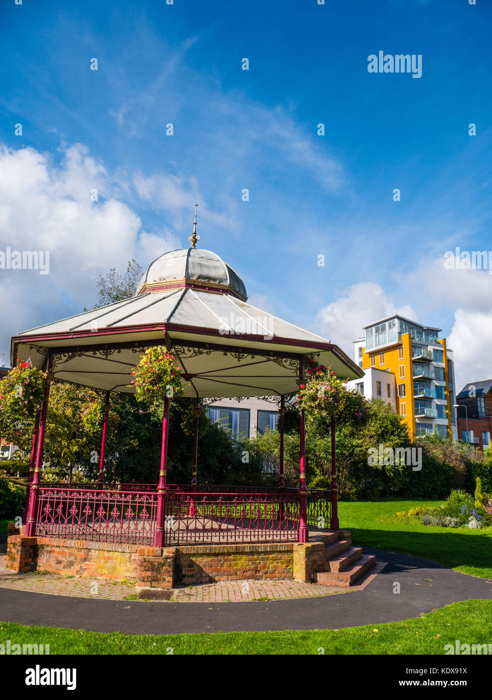 Bandstand, Victoria Park, Newbury, Reading, Berkshire, England - Stock Image
