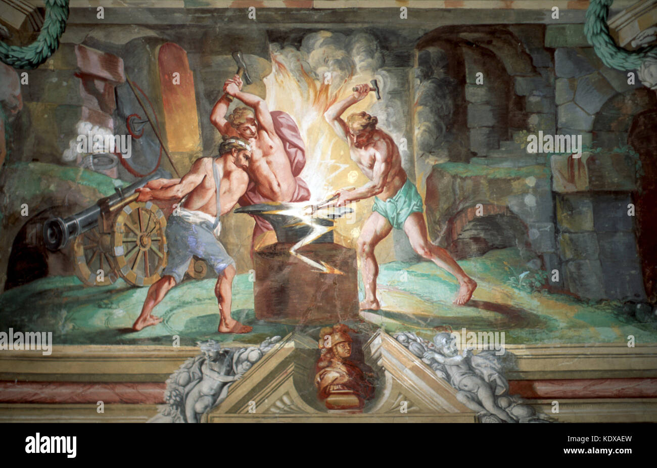 Slowenien, Brezice, im Schloss Brezice - Stock Image
