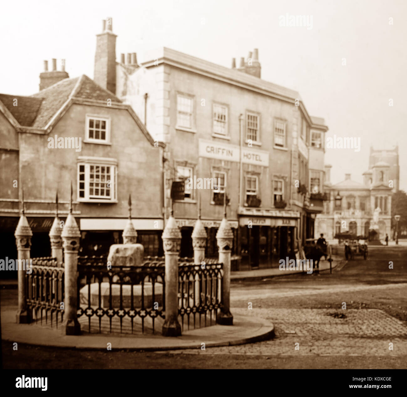 Griffin Hotel, Kingston upon Thames, early 1900s - Stock Image