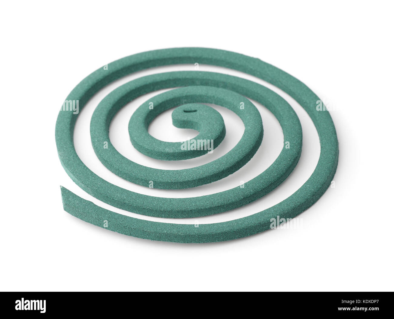 Mosquito repellent coil isolated on white - Stock Image