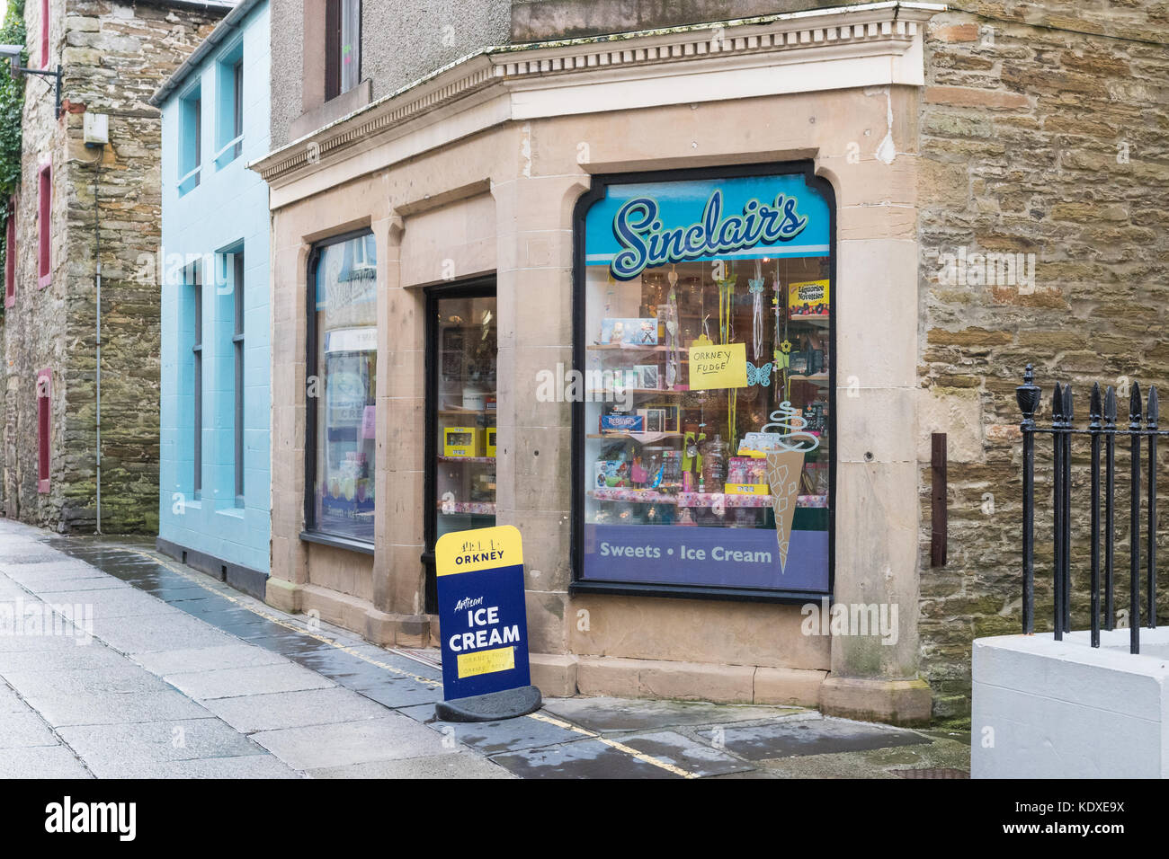 Sinclairs ice cream and sweet shop, Albert Street, Kirkwall, Orkney, Scotland, UK - Stock Image