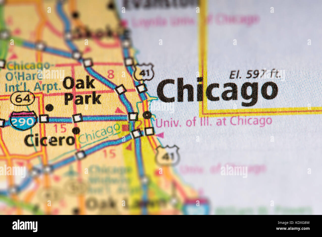 Chicago In Map Of Usa on