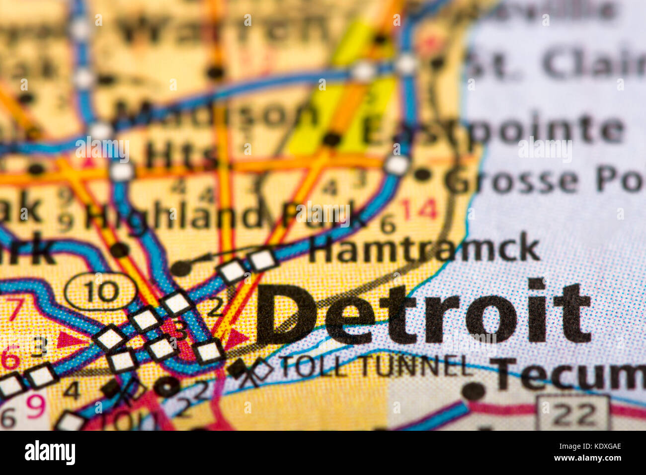 Old Map Of Detroit High Resolution Stock Photography And Images Alamy