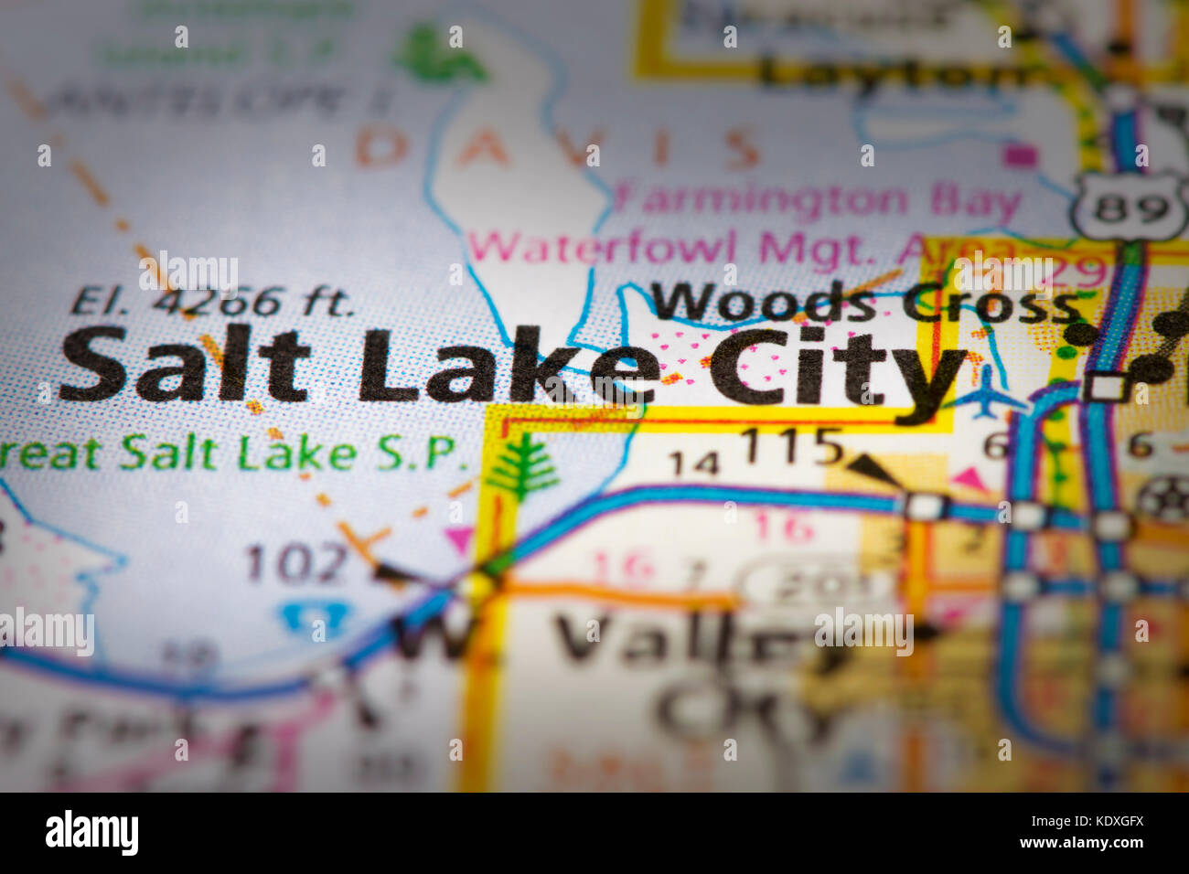 Closeup of Salt Lake City, Utah on a road map of the United ... on salt lake city va map, snowbird utah map, sioux city iowa on usa map, salt lake city on a state map, salt lake city streetcar map, salt lake city utah area map, salt lake city with map of america, southern utah tourism map, salt lake city zip code map, sandy utah on usa map, utah airports map, snowbird mountains north carolina map, salt lake city on us map, great salt lake map, lake city street map, salt lake city parking map, utah road map, kansas city missouri on usa map, ogden utah on usa map,
