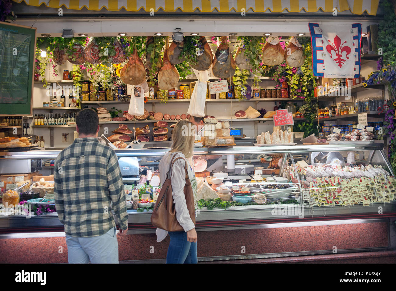 Mercato Centrale in Florence, Italy - Stock Image