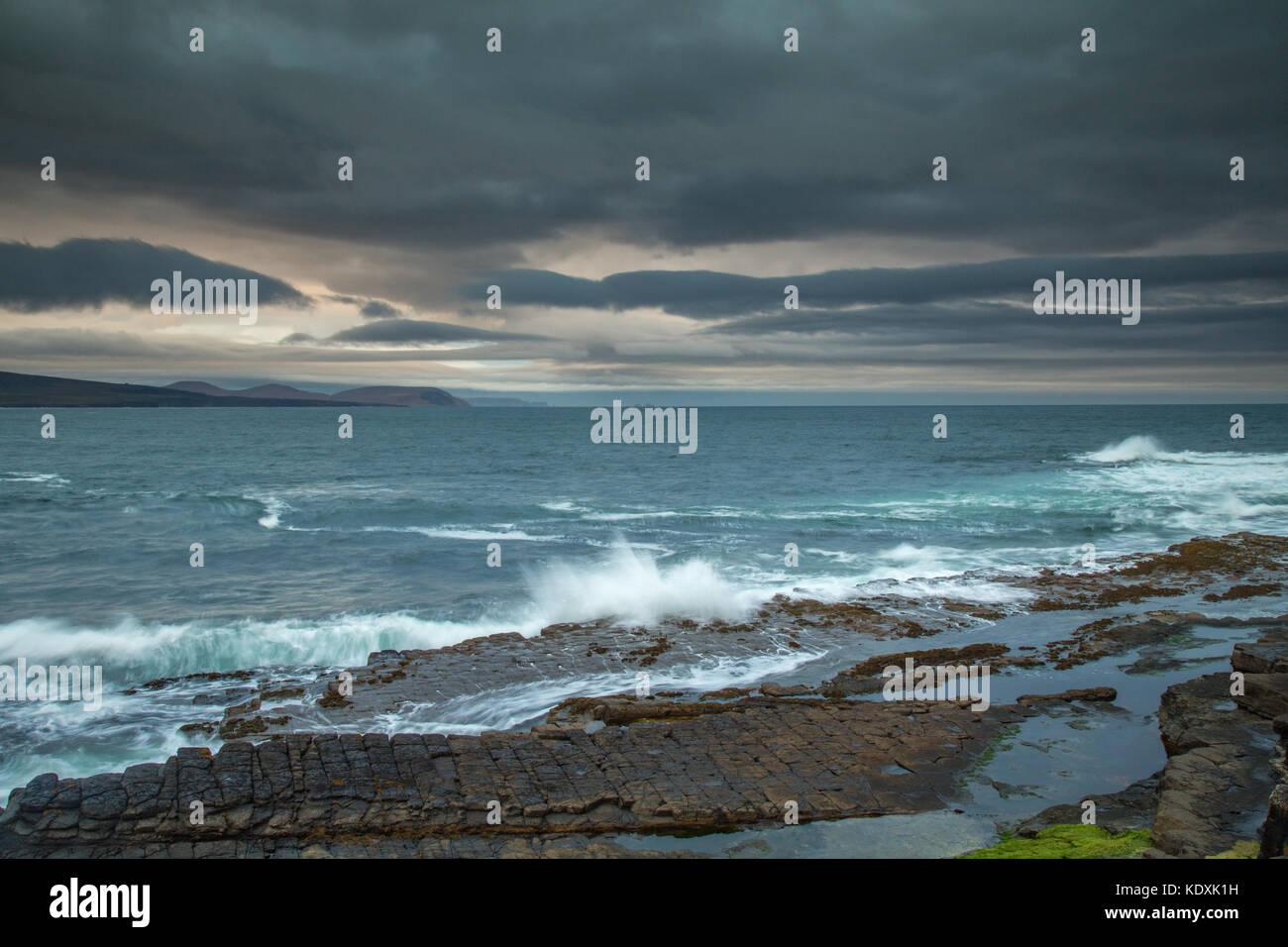 Storm approaching Downpatrick Head, Co.Mayo - Stock Image