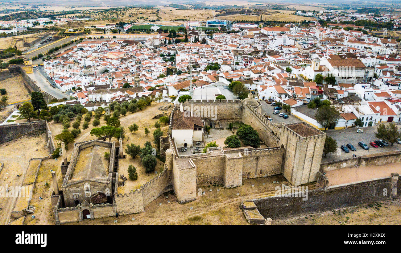 Bastian Fort, City Walls, Castle of Elvas, Portugal Stock Photo