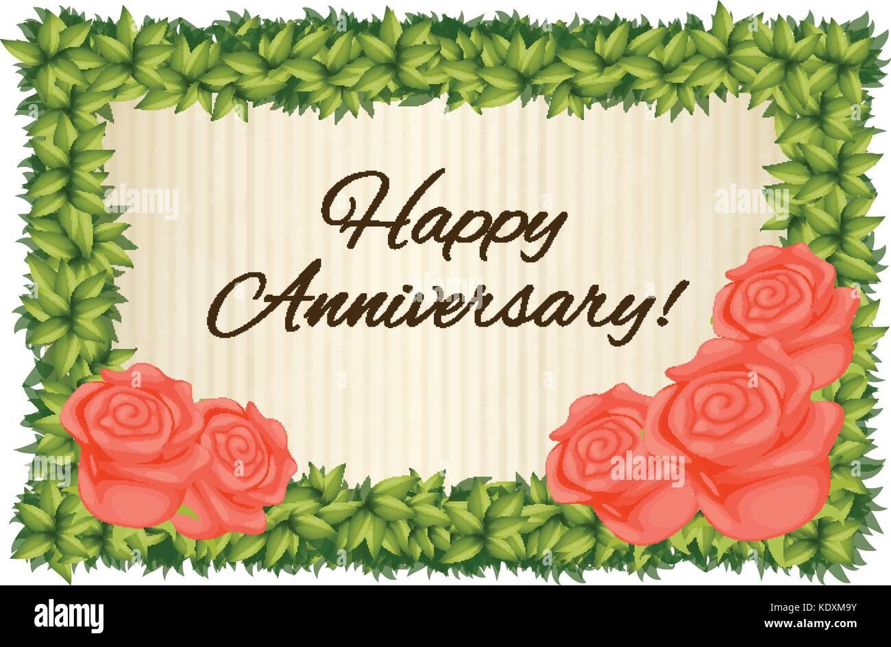 Happy Anniversary Stock Vector Images - Alamy