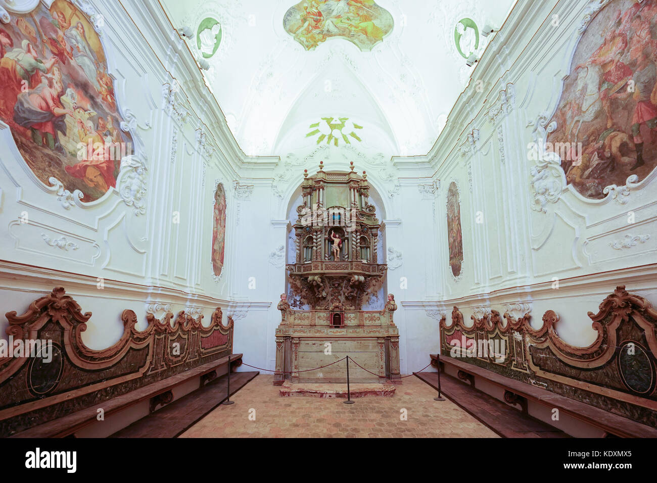 A chapel inside the San Martino church in the hill-top town of Erice. From a series of travel photos in Sicily, - Stock Image