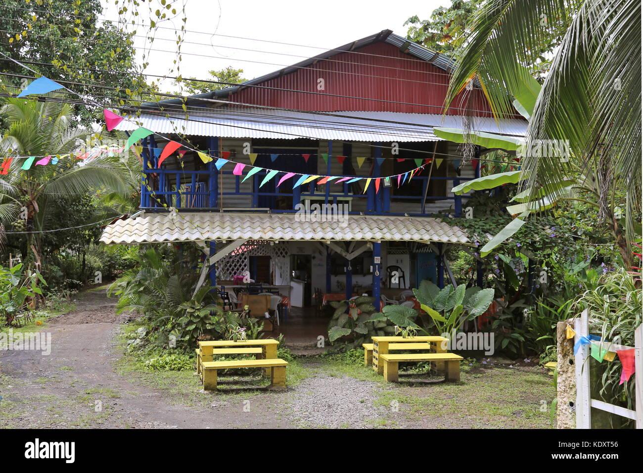 Ancora Blu Pizzeria, Playa Negra, Puerto Viejo de Talamanca, Limón province, Caribbean Sea, Costa Rica, Central - Stock Image