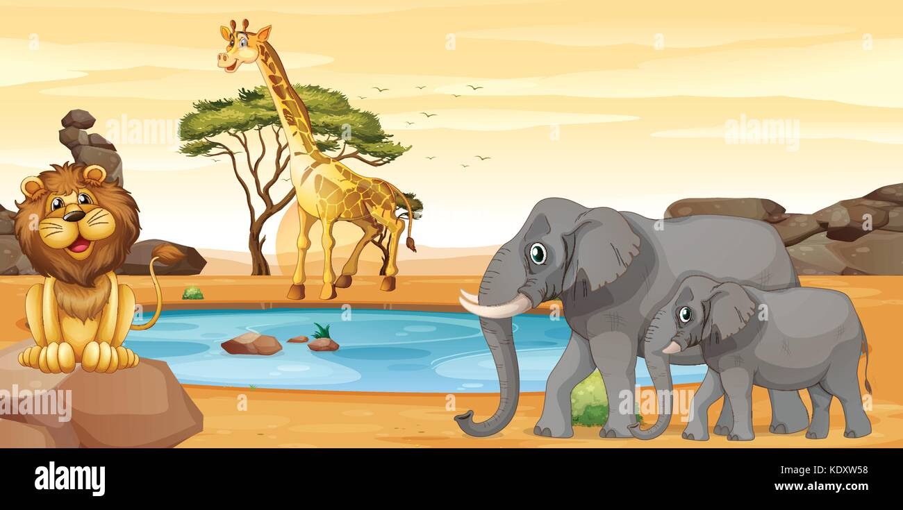 African Scenery Clipart High Resolution Stock Photography And Images Alamy